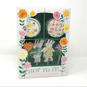 NWT Meri Meri Hop To It Easter Cupcake Kit Spring